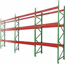 Palettenregal Schwerlastregal Hochregal L=11,30 H=3,50 mit 3 Ebenen TÜV geprüft Fachlast 3000kg