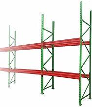 Palettenregal Schwerlastregal Hochregal L=5,70 H=3,00 mit 2 Ebenen TÜV geprüft Fachlast 3000kg