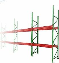 Palettenregal Schwerlastregal Hochregal L=8,50 H=3,00 mit 2 Ebenen TÜV geprüft Fachlast 3000kg