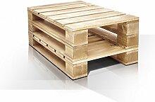 PALETTI Couchtisch III Massivholztisch Palettentisch Beistelltisch Tisch aus Paletten in 60x90 cm natur, natur