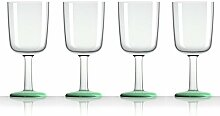 Palm 15392 Wein-Glas Marc Newson 300 ml, 4-er Set, grün glow-in-dark