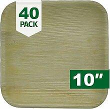 Palm Naki quadratische Palmblatt-Teller (40