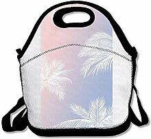 Palm Tree Insulated Lunch Box Tote Bag Rugged