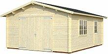 Palmako Blockbohlen-Garage Roger 23,9 natur 44 mm