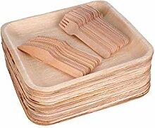 Palmblatt-Teller Sehr stabile quadratische Teller