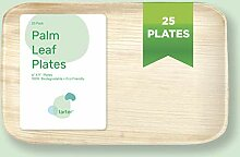 Palmblatt-Teller-Set, 15,2 x 22,9 cm, 25 Stück