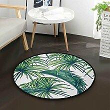 Palme Aquarell Tropische runde Fläche Teppich