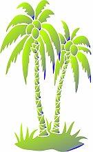 Palmen Schablone-wiederverwendbar Groß