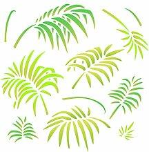 Palmenblätter Schablone - wiederverwendbare