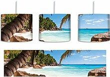 Palmenstrand Seychellen inkl. Lampenfassung E27,