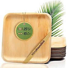 palmenwald© 25 Stück kompostierbare Einwegteller