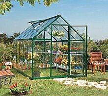 Palram Aluminium Gewächshaus Gartenhaus Hybrid 6x10 Grün // 310x185x209 cm (LxBxH); Treibhaus & Tomatenhaus zur Aufzuch