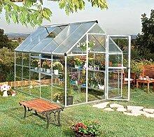 Palram Aluminium Gewächshaus Gartenhaus Hybrid 6x10 silber // 310x185x209 cm (LxBxH); Treibhaus & Tomatenhaus zur Aufzuch