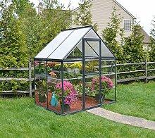 Palram Aluminium Gewächshaus Gartenhaus Hybrid 6x4 // 130x185x209 cm (LxBxH); Treibhaus & Tomatenhaus zur Aufzuch