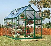 Palram Aluminium Gewächshaus Gartenhaus Hybrid 6x8 grün // 250x185x209 cm (LxBxH); Treibhaus & Tomatenhaus zur Aufzuch