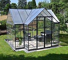 Palram Aluminium Gewächshaus Gartenhaus Orangerie Victory // 305x365x269 cm (LxBxH); Treibhaus & Tomatenhaus zur Aufzuch
