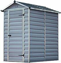 Palram Skylight Shed Gerätehäuser, dunkel grau / anthrazit, 177.5 x 122.5 x 203.5 cm