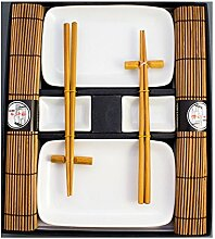 Pamai Pai® Weißes Sushi Set Geschirr Service -