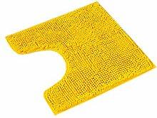 PANA Badematte Polyester Gelb WC Vorleger mit
