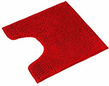 PANA Badematte Polyester Rot WC Vorleger mit