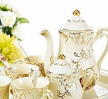 Panbado, 12-teilig Porzellan Kaffeeservice Set,
