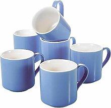 Panbado, 370 ml Kaffeetassen aus Porzellan,