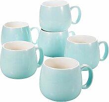 Panbado, 6er Set Kaffeetassen aus Porzellan, 375