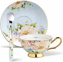 Panbado, Fine Bone China Porzellan Kaffee Set, mit