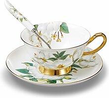 Panbado Floral Kaffeetassen aus Premium Bone China