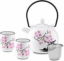 Panbado Japanisch Porzellan Teeset, Beinhaltet 1