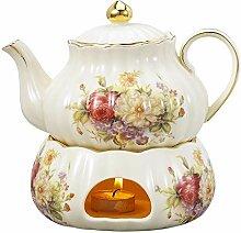 Panbado Kaffee Tee Kanne 850 ml mit Stövchen aus