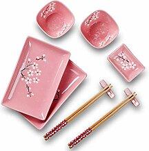 Panbado Porzellan Japanisch Sushi 10-teilig Set,
