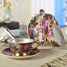 Panbado Porzellan Kaffee Tee Set, 2 Kaffeetassen