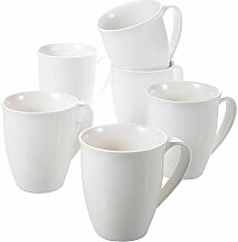 Panbado, Porzellan Kaffeetassen, 6-teilig Set, 310