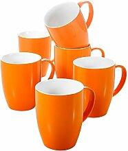 Panbado, Porzellan Kaffeetassen für 6 Personen,