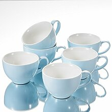 Panbado, Porzellan Kaffeetassen Set, 6-teilig