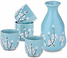 Panbado Porzellan Sake Set, Japanischer Stil,