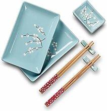 Panbado Porzellan Sushi 8-teilig Set, Japanisch