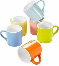 Panbado Porzellan Tasse Set Kaffee Tee Wasser Cup