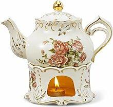 Panbado Teekanne 850 ml mit Stövchen aus