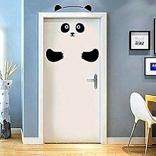 Panda Bär 3D Tür Aufkleber Lustige Tür Fenster