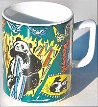 PANDA (Grundfarbe grün) BÄR BOPLA! Maxitasse 0,3l Serie Wildlife Classics Kaffee- Tee- Glühwein- Becher, Maxi Tasse, Mug, Maxi Taza, Maxi Cup, Maxit Taza 0,3 l, 10-1/2 fl. oz. Einzelgewicht: 302g - Geeignet für alle heißen und kalten Getränke. Ihre Geschenk-Idee zum Sammeln. Platzsparend stapelbar. In verschiedenen Dekoren und Farbvariationen zur Auswahl