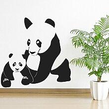 Panda Und Baby Wandtattoo Kunst Aufkleber verfügbar in 5 Größen und 25 Farben Extraklein Gold Metallic