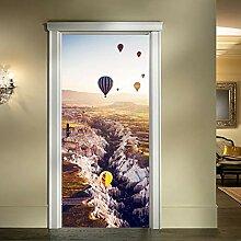 PANDABOOM Heißluftballon 3D Tür Aufkleber