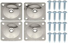 Pandora Hardware Furniture Leg Attachment Plates 5/16 -in, Heavy Duty Top Plate for Sofa, Table, Ottoman and Couch. Mounting Screws Included, 12 Gauge Galvanized Steel Set of 4 by Pandora Hardware