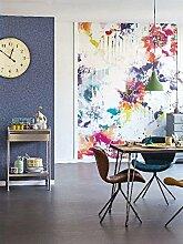 Paneel Blumen h280cm X L200cm bunt modern Street Art-68644070waschbar