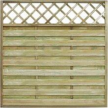 Panel quadratisch Garten-Zaun 180x 180cm Holz