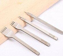 PANGUN 4Er Leder Pricking Eisen Werkzeuge Kit