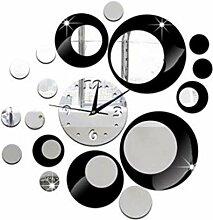 PANGUN Spiegel-Uhr Mode Persönlichkeit Wand-Uhr