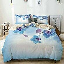 PANILUR beige Bettwäsche Set,Orchideen